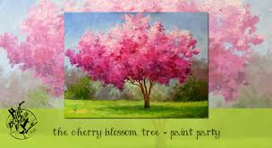 the cherry blossom tree paint party