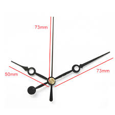 100sets rhythm shaft black short hands 1 diy clock hands quartz clock accessory metal aluminum high quality clock kits auqo5604