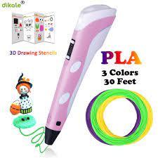 Dikale 3D Kalemler LED Ekran DIY 3D Yazıcı Kalem 3d Kalemler Ile 9 M  Filament Çocuklar