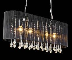 shaded long pendant chandelier by made with love designs ltd notonthehighstreet com