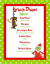 Microsoft Christmas Party Grinch Dinner Menu Sample Made In Microsoft Publisher Ashs Food