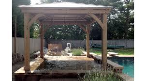 pool cabanas yardistry garden structures gazebos tiki bars sheds and pergolas installation on long island