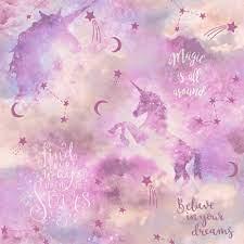 Arthouse Glitter Unicorn Wallpaper