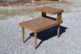 mid century end table two tier mersman formica side accent furniture modern mcm mid century end table e42