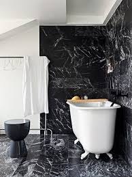 (Image credit: Elle Decoration). In this bathroom from Elle Decoration black  marble ...