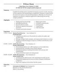 payroll clerk resume template payroll administration resume