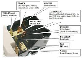chevy gm gmc pontiac cadillac headlight switch headlamp light bulb click thumbnails to enlarge
