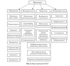 Система российского права социального обеспечения Ключевыми являются общеправовые принципы на которые опирается право социального обеспечения и отраслевые принципы проявляющиеся через предмет и метод