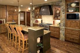 Country Rustic Kitchen Designs A Rustic Kitchen Island Designs In A Rustic Kitchen With Pendant