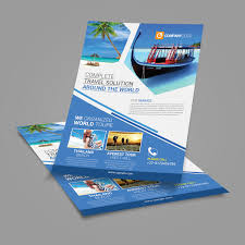 Travel Agency Flyer Template Posan Lab