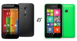 Motorola Moto G vs Nokia Lumia 530 ...
