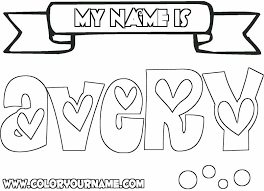 Inspirational Of Make Your Own Coloring Pages With Your Name On It