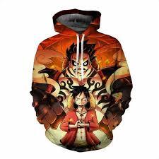 One Piece Anime Size Chart One Piece Luffy Hoodie Anime Sweatshirts 3d Hoodie