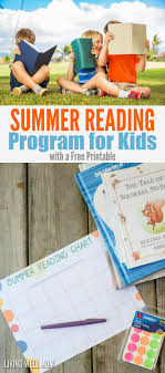 Summer Reading Incentive Chart Free Printable Summer Reading Log For Kids