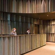 image result for mirrored reception desk