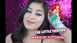 the little mermaid inspired makeup tutorial nellybee21 colourpop x disney