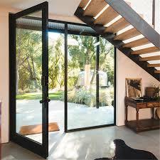 commercial modern front interior swing glass doors aluminum front entry doors fiberglass exterior large glass doors