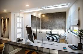 home office lighting design. Awesome Black And White Home Office Bedroom Ideas With Natural Ceiling Light Design Lighting