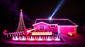 Musical Outdoor Christmas Lights An Elaborate Christmas Light Display Synced To The Music Of