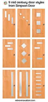 mid century modern front doors9 midcentury modern exterior door styles from Simpson Doors