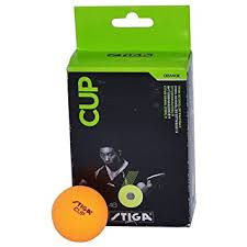 ball in a cup. stiga cup table tennis ball, pack of 6 (orange) ball in a