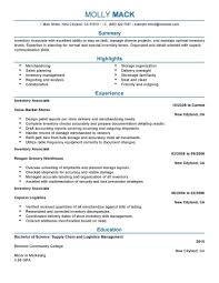 Inventory Resume Examples Examples Of Resumes