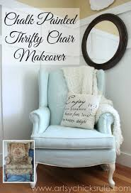 chalk painted upholstered chair artsyrule comso easy don t love it paint