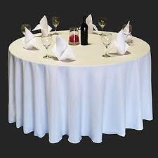 1 of 4free 7 packs 120 inch round tablecloth polyester wedding 25 color 5 ft table cover