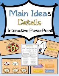 Main Idea and supporting details INTERACTIVE PowerPoint. Includes ...