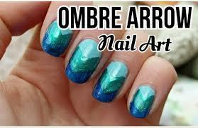 Ombre Arrow Nail Art- NO TOOLS NEEDED - YouTube