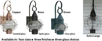 lighting styles. Large Copper Onion Light, Medium Brass Small Green Light. Available Lighting Styles