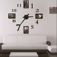 photo frame wall clock modern design large digital decorative wall sticker clock home decoration wall art unique gift w118 with 114 07 piece on