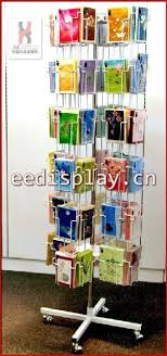 Free Standing Christmas Card Holder Display Hot Sell Flooring Metallic Greeting Card Display Rackpost Card 50