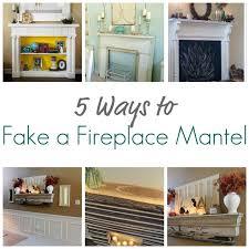 5 ways to fake a fireplace mantel