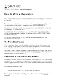 You may wonder if there is a correlation between eating greasy food and getting pimples. How To Write A Hypothesis
