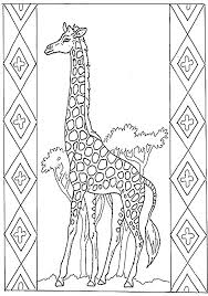 Giraffe Coloring Page Easy Cartoon Cute Giraffe Coloring Pages With