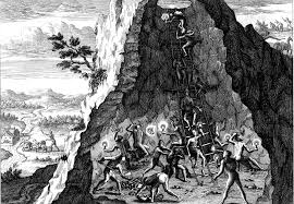 mining conquistadors caused air pollution years before the  cerro rico near the n city of potosi was known as the mountain that eats men mining in potosi 1596 by theodoor de bry