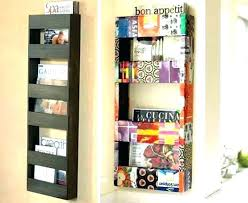 hanging magazine rack.  Hanging Wire Wall Mounted Magazine Racks Hanging Double  Rack Metal Mount With I