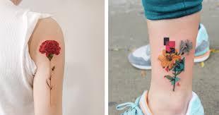 Galerie Nádherná Tetování Květin Která Si Hned Budete Chtít
