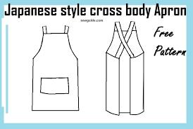 Japanese Apron Pattern Unique Make Easy Japanese Style CROSS BACK APRON Free Diy Pattern