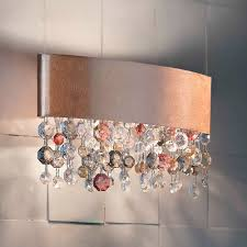 oval copper leaf chandelier style wall light