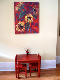 interesting ikea kids furniture orangearts wooden table and chairs laminate floor also flora painting unfinished