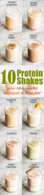 10 easy protein shake recipes you can make without a blender