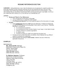 Reference In Resume Examples References Sample With List Of For