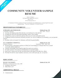 Volunteer Experience On Resume Stunning Resume Volunteer Examples Mmventuresco