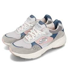 Skechers Meridian Charted Grey Pink Blue Women Running Shoes