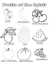 Images Of Printable Fruit Of The Spirit Coloring Pages