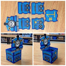 17 best images about hama tissue box perler beads thomas the train perler bead box by amanda collison