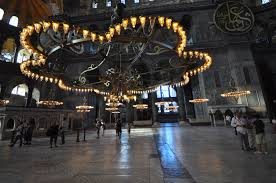 file massive central chandelier and two of the medallions hagia sophia 8394693292
