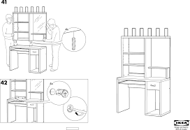 Ikea Instruction Manuals Ikea Accessories Mikael Computer Workstation 41x20 Pdf Assembly